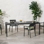 Trill Rio 140 ALU Outdoor Dining Set (6-Seater) – Charcoal