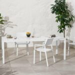 Trill Rio 140 ALU Outdoor Dining Set (6-Seater) – White